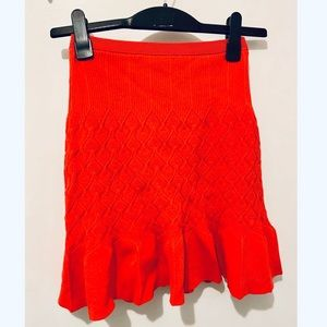 New Sandro red knit skirt size 1/xs